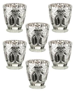 Lillian Rose Metallic Cut Glass Votive or Tea Light Candle Holders Set of 6