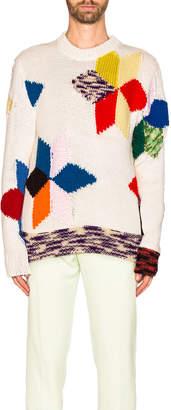 Calvin Klein Quilt Knit in Ecru Multi | FWRD