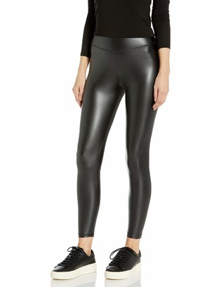 Peds Women's Leatherette Legging with Wide Comfort Waistband