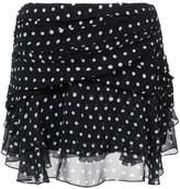 Saint Laurent polka dot wrap skirt
