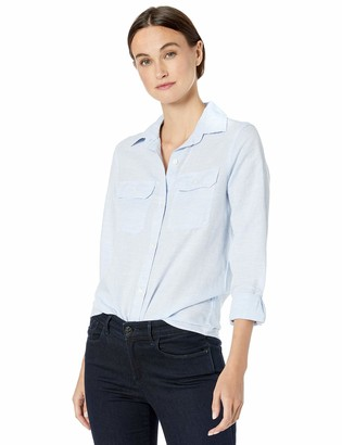 Chaps Women's Long Sleeve Linen Cotton Shirt