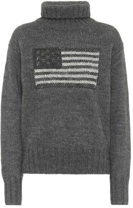 Polo Ralph Lauren Embellished wool-blend turtleneck sweater