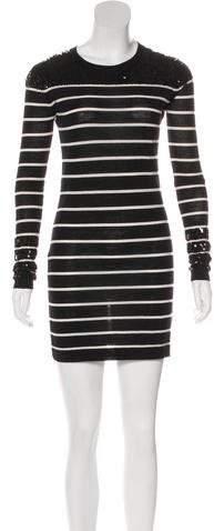 Markus Lupfer Merino Wool Long Sleeve Mini Dress