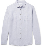 Onia Abe Striped Slub Linen Shirt