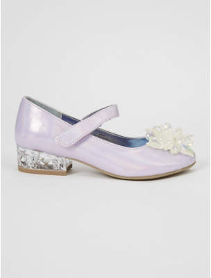 Disney George Frozen 2 Iridescent Lilac Beaded Light Up Heeled Shoes