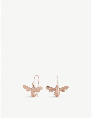 Olivia Burton Lucky Bee rose gold-plated earrings