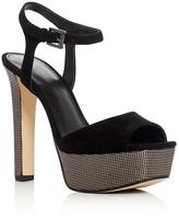 MICHAEL Michael Kors Trish Metallic Embossed High Heel Platform Sandals