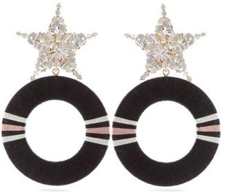 Maryjane Claverol - Gamma Star-stud Crystal-embellished Hoop Earrings - Womens - Pink Multi