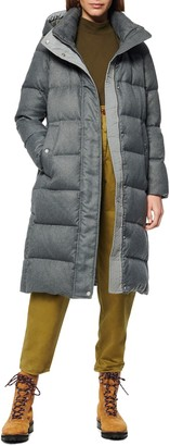 Andrew Marc Coated Wool Down Parka