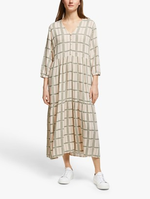 Y.A.S Flocha Check Midi Dress, Multi