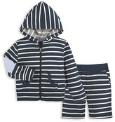Andy & Evan Boys' Striped Hoodie & Shorts Set - Baby