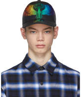 Marcelo Burlon County of Milan Black Starter Edition Rainbow Cap
