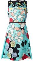 Antonio Marras rose print lace A-line dress