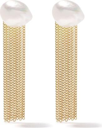 Wouters & Hendrix Gold 18kt yellow gold Pearl Tassel earrings