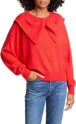 The Great Bow Neck Cashmere Sweater