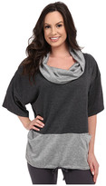 Midnight by Carole Hochman Lounge Funnel Neck Top