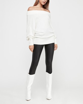 Express Off The Shoulder Wedge Tunic Sweater
