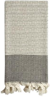 Luks Linen Tulin Cotton Peshtemal - Black & Salt