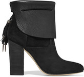 Sigerson Morrison Ferg textured-leather and suede boots
