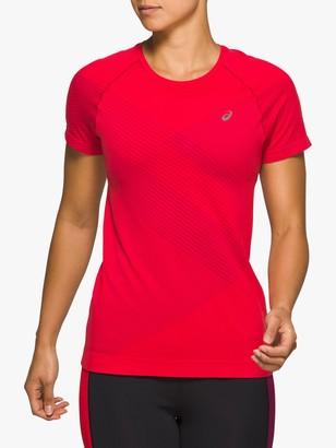 Asics Tokyo Seamless Short Sleeve Running Top, Classic Red