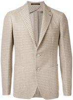 Tagliatore two button woven blazer