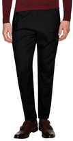 Diesel Black Gold Pool-Vent Linen Striped Pleated Trousers