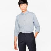 Paul Smith Men's Slim-Fit Grey Charm-Button Shirt