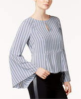 Bar III Striped Bell-Sleeve Top, Created for Macy's