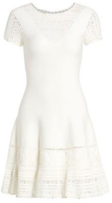 Jonathan Simkhai Alicia Crochet Mini Flare Dress
