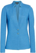 St. John Inverted Notch-Collar Knit Jacket
