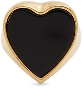 Chloé Stone-embellished heart signet ring