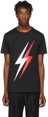 Neil Barrett Black Double Thunderbolt T-Shirt