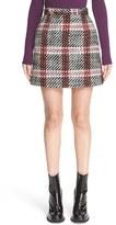 Carven Plaid Bouclé Miniskirt