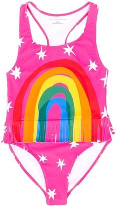 Stella McCartney TEEN rainbow print swimsuit