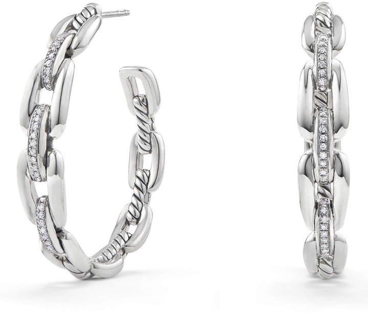 David Yurman Wellesley 23mm Hoop Earrings with Diamonds