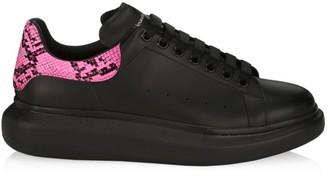 Alexander McQueen Python-Print Neon Platform Sneakers