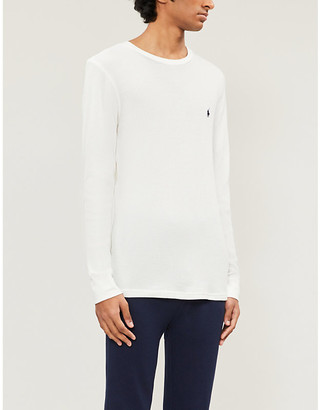 Polo Ralph Lauren Logo-embroidered crewneck jersey pyjama top