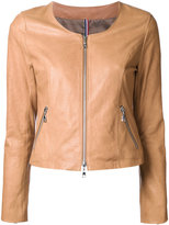 GUILD PRIME zip up jacket - women - Lamb Skin - 34