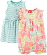 Carter's 2 Piece Dress & Romper Set (Baby)-Pink-Newborn