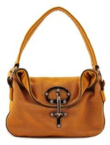 Fay Elisa Jolanda Acone Mini Shoulder Women Canvas Tan Shoulder Bag.