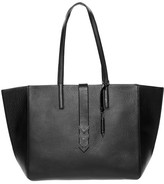 Mackage Aggie Large Leather Tote With Twin Carry Handles In Black