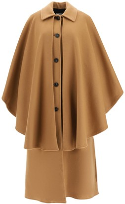 MSGM COAT WITH CAPE 42 Beige Wool