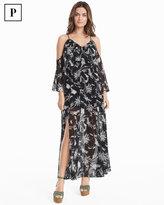 White House Black Market Petite Cold-Shoulder Floral Maxi Dress