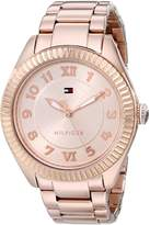 Tommy Hilfiger Women's 1781344 Casual Sport Rose-Gold Coin Edge Bezel Watch