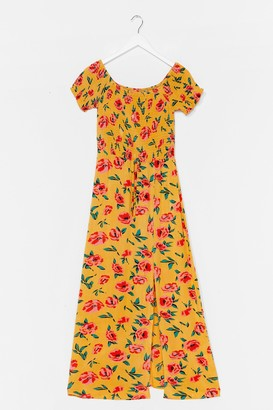 Nasty Gal Womens Growing Places Floral Maxi Dress - Yellow - S