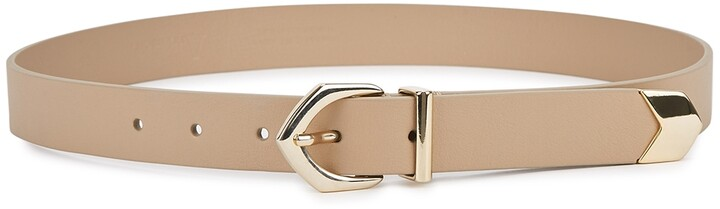 Andersons Taupe Leather Belt