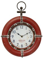 Infinity Instruments Regie Autonome Decorative Clock- Red