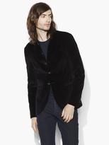 John Varvatos Satin Shawl Velvet Jacket