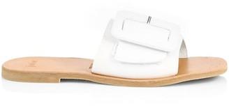 Joie Ballisson Flat Buckle Leather Sandals