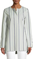 Lafayette 148 New York Tilly Striped Cotton Tunic